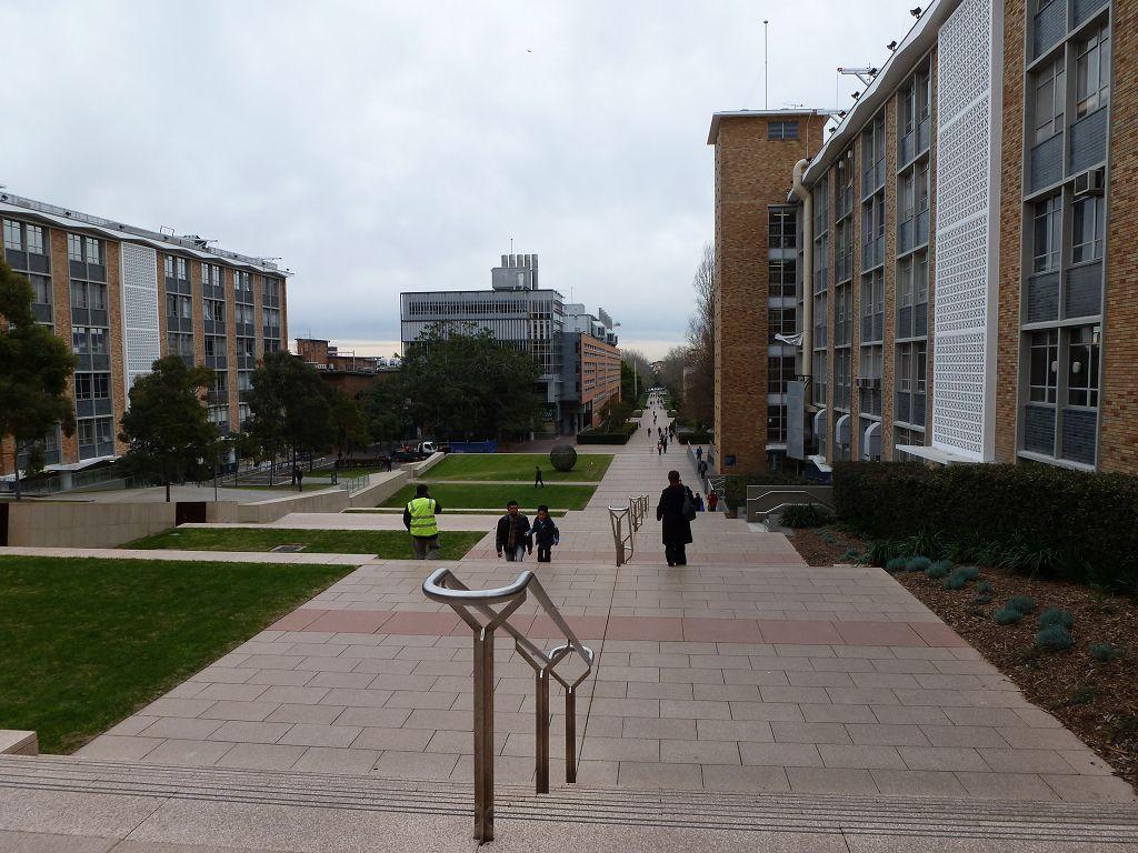 Main walk auf dem Campus