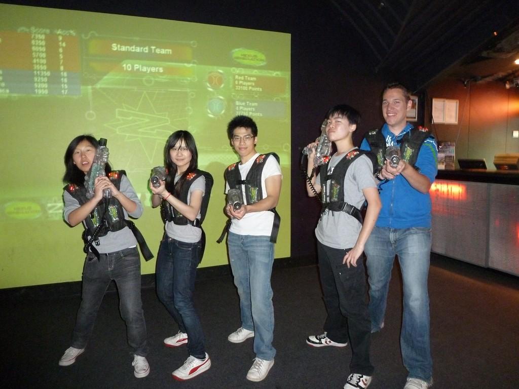 Laser Tag Team Blue