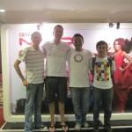 Auf einem indo Studi-Konzert